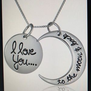 Love you to the moon pendant necklace